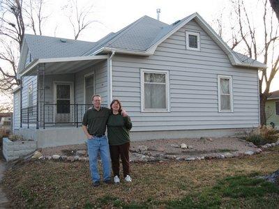 Monte & Lynne at their house.