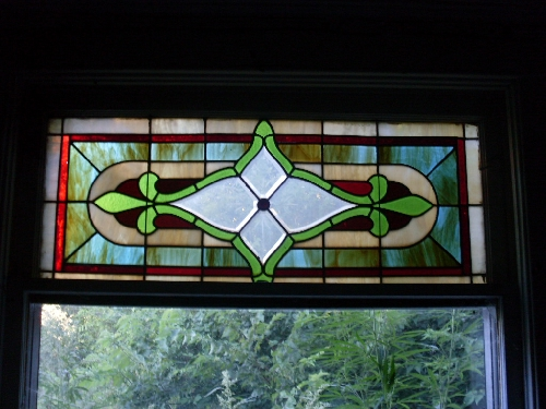 stolen stained glass window